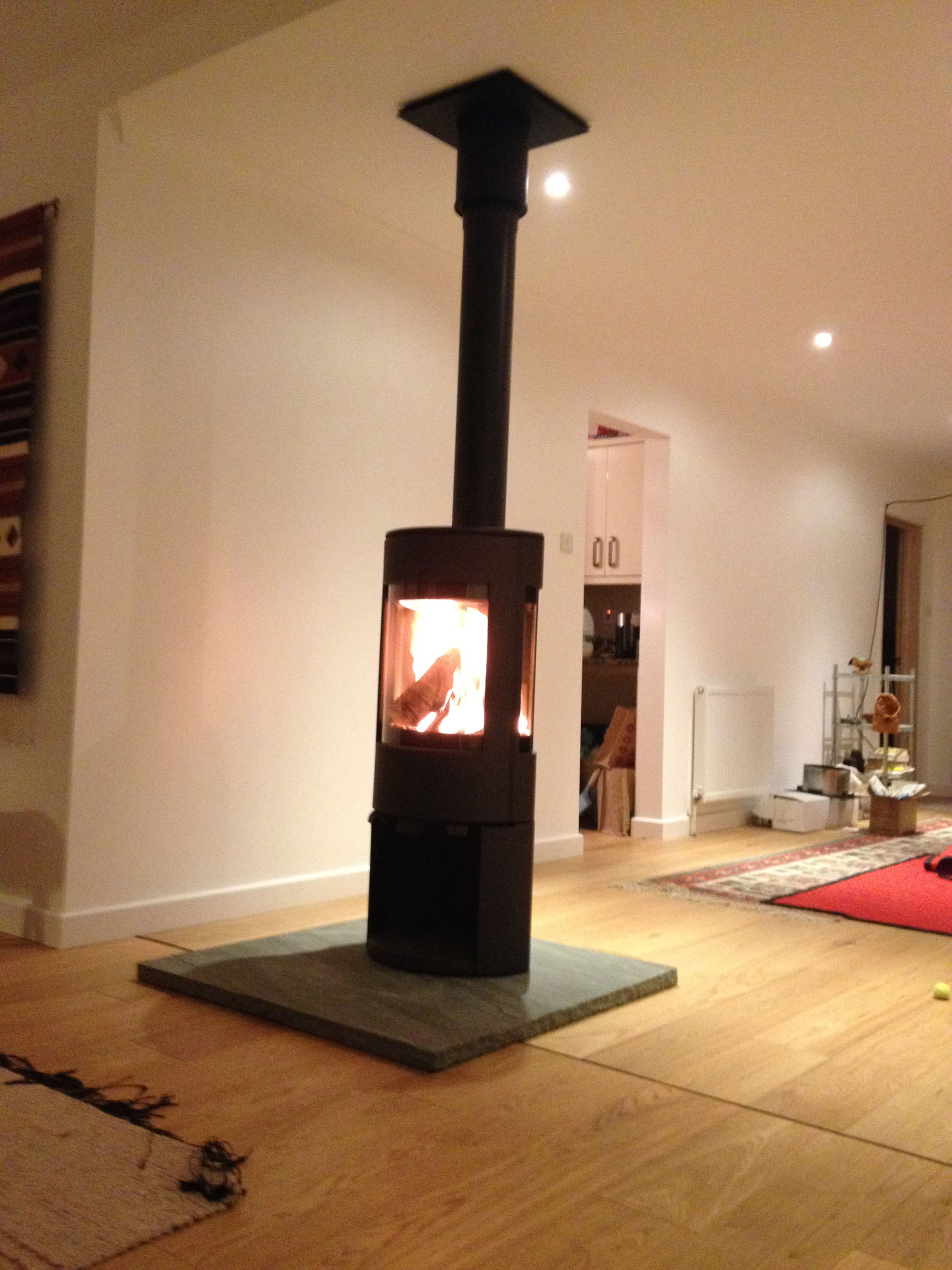 Dovre Free standing stove Woking Fire Bug Wood Burning Installation