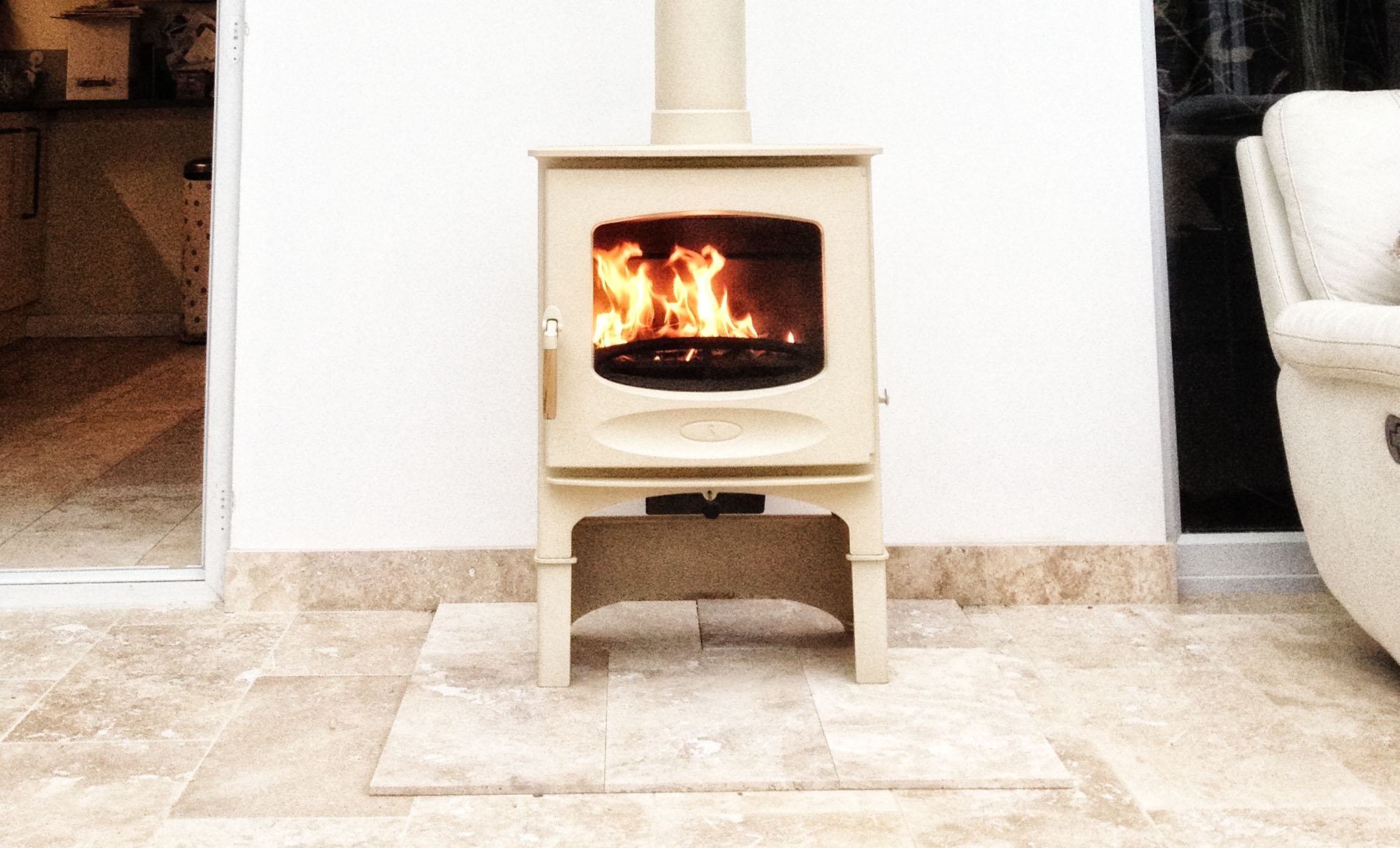 Conservatory Installation Cream Wood Burner Farnborough