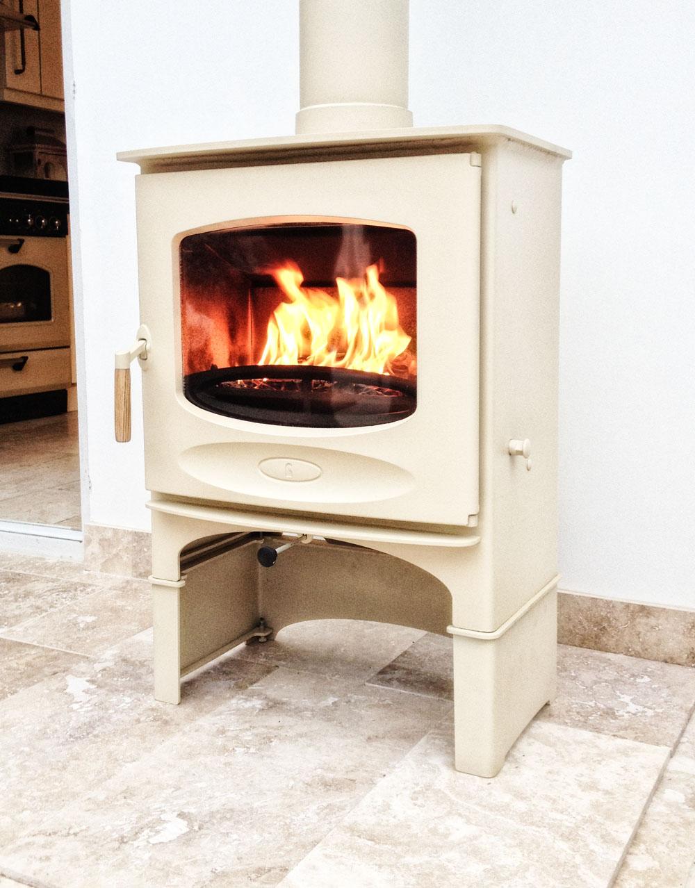 Conservatory Installation, Cream Wood Burner – Farnborough | Fire ...