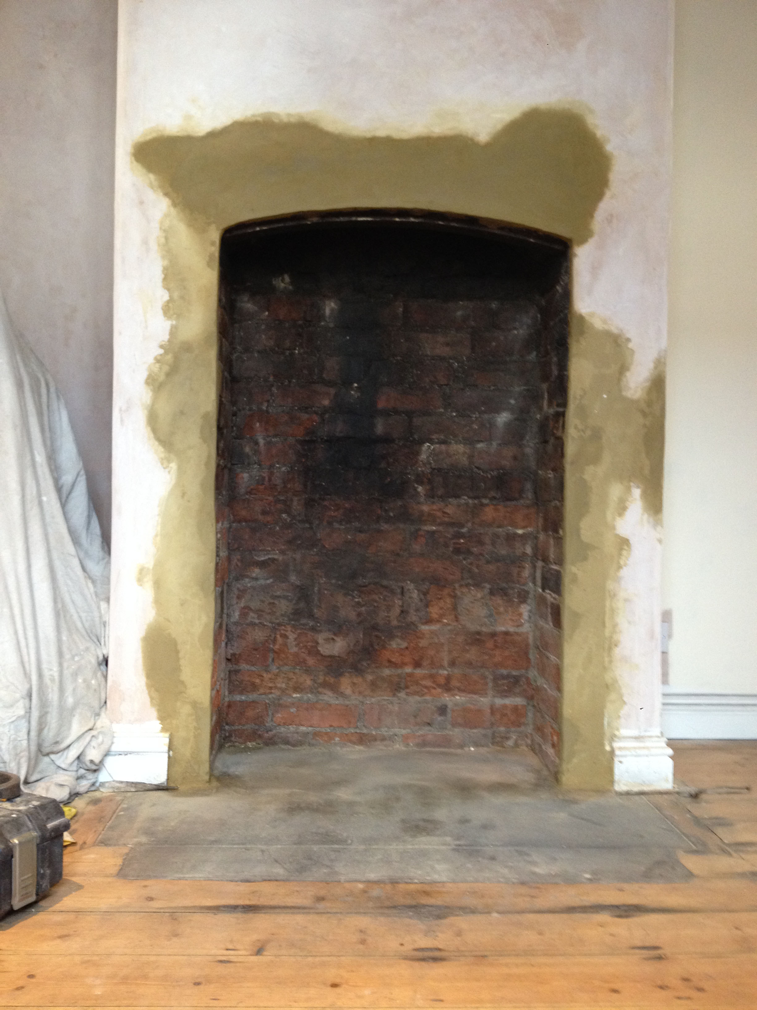 Traditional Log Burner In Brick Fireplace Farnborough