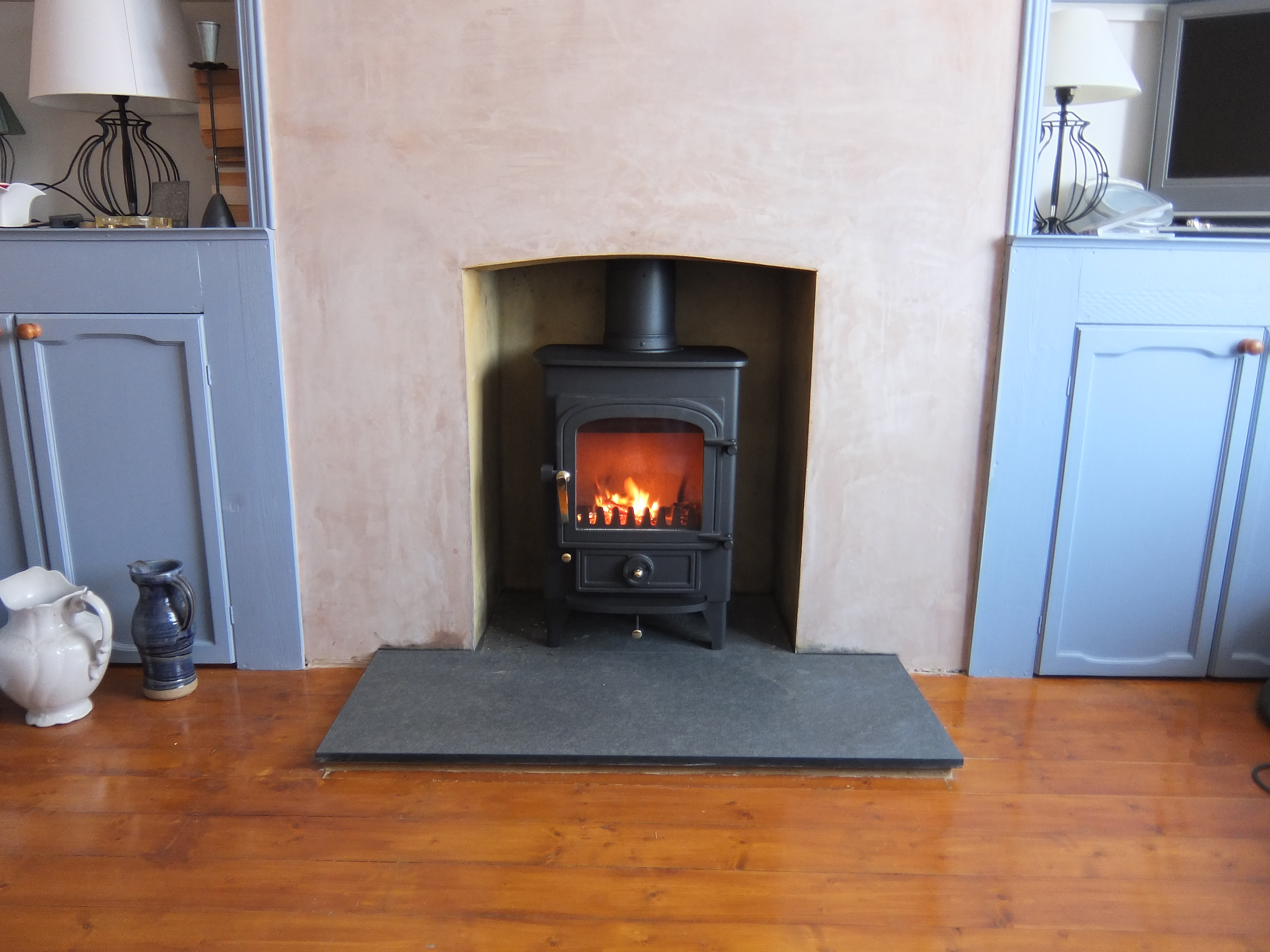 Wood Burning Stove With Granite Hearth Fire Bug Wood