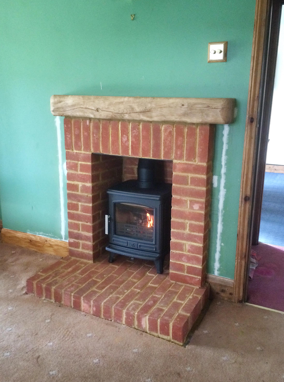 Brick Fireplace Surround Alton Hampshire Fire Bug Wood Burning Installation