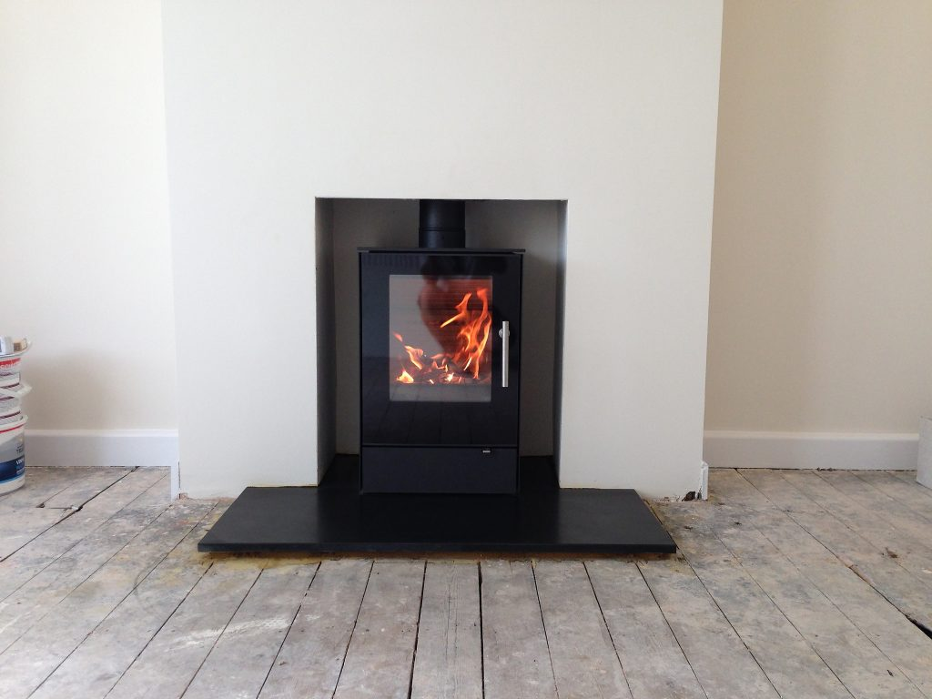 modern wood burning stove installation weybourne farnham. Black Bedroom Furniture Sets. Home Design Ideas