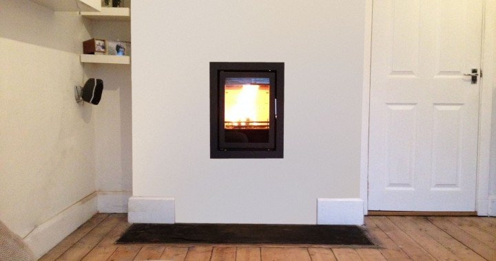 Inset wood burning stove Farnborough