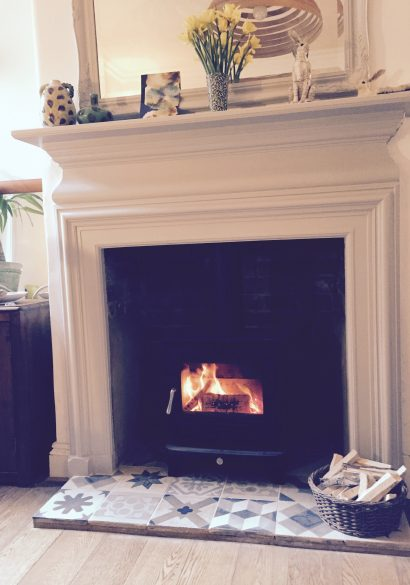 wood burning stove installation Godalming