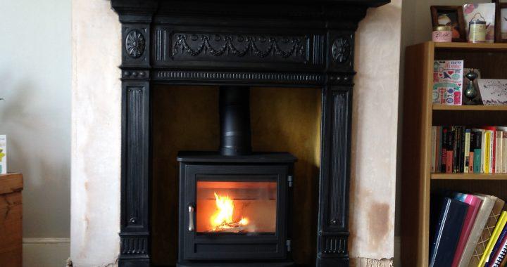 Victorian Cast Iron Fireplace Surround, Cast Iron Wood Burning Stove Fireplace