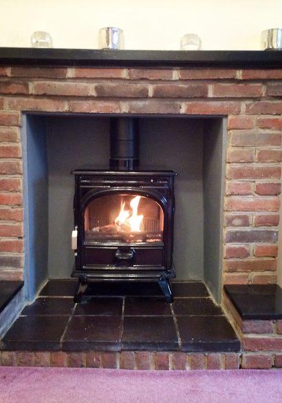 Enamel Dovre wood burning stove Frimley Green