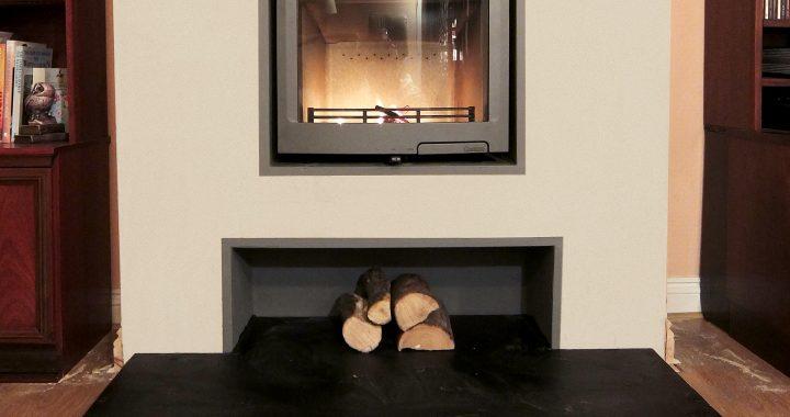 inset wood burning stove installation