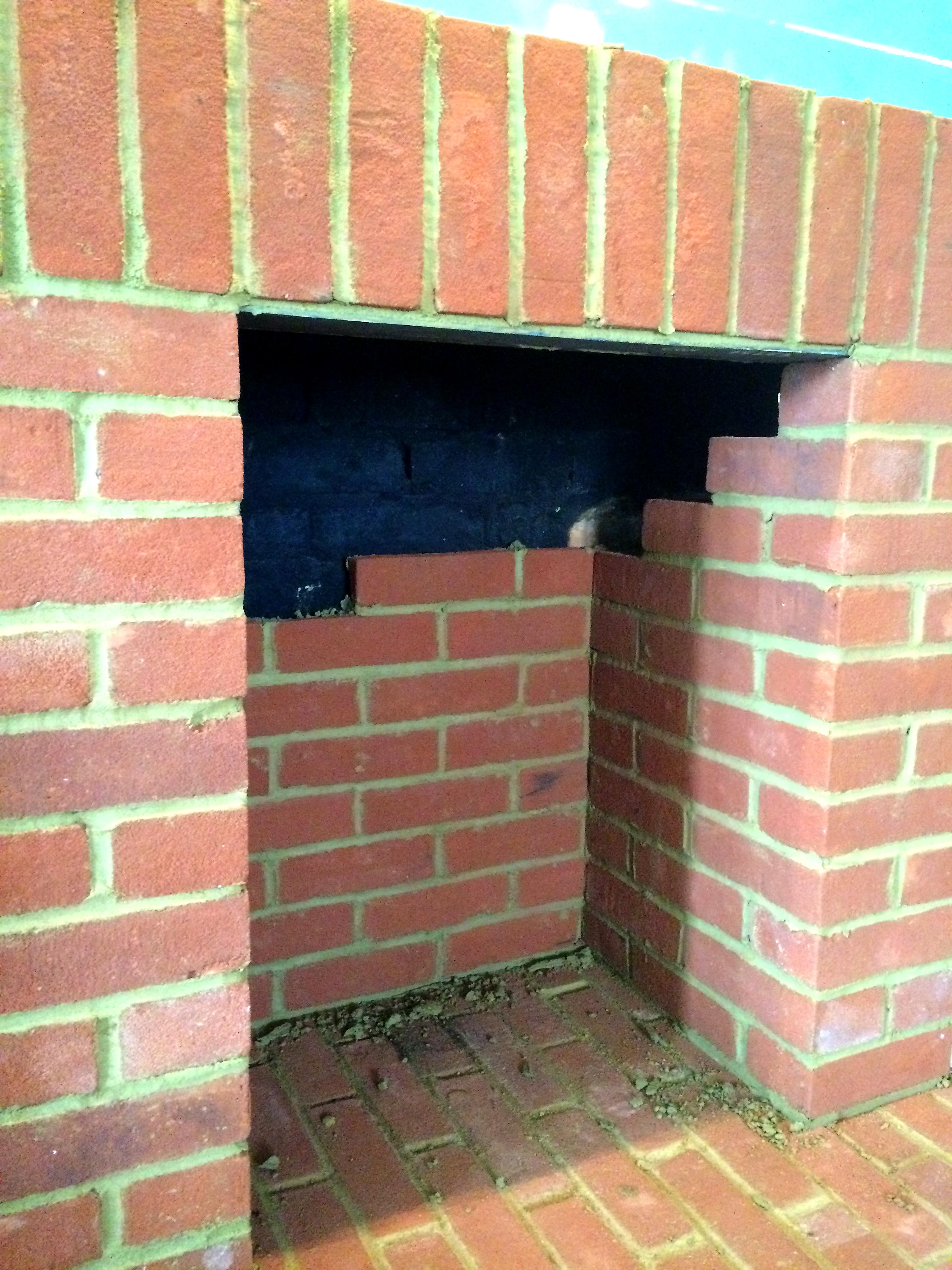 Log Burner Fireplace Brick