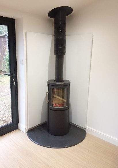corner wood burning stove, Winchester
