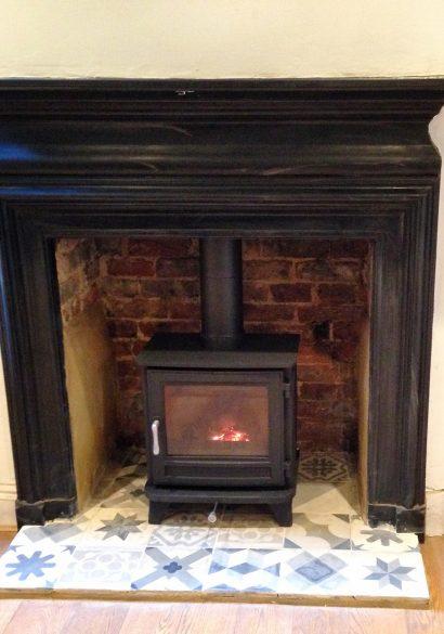 Cast iron fireplace surround Godalming