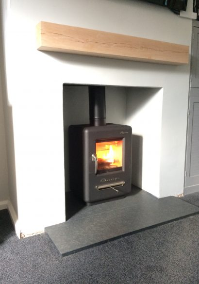 wood burning stove installation in. guildford