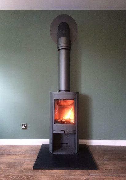 Contur 810 wood burning stove in grey