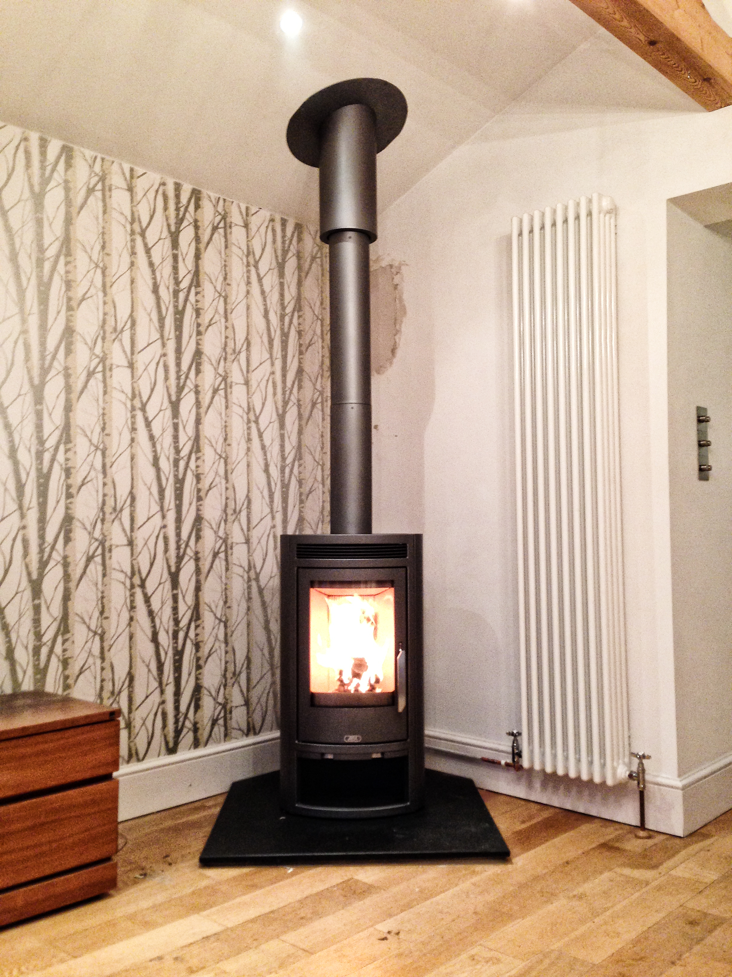 Free Standing Log Burner Upper Hale Farnham Log Burner Installation Hampshire