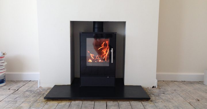 Ultra modern wood burning stove farnham