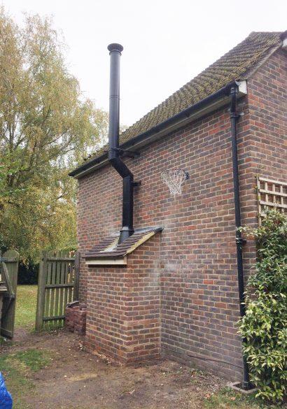 twinwall flue installation in Farnham