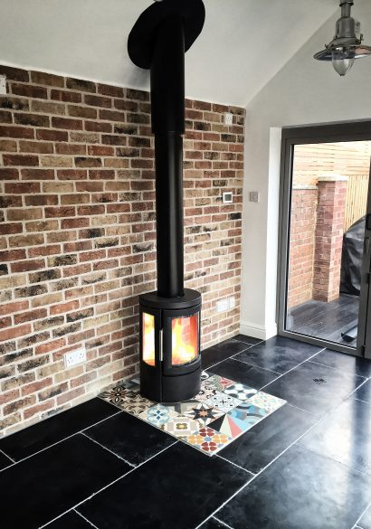 wood burning stove installation Farnham