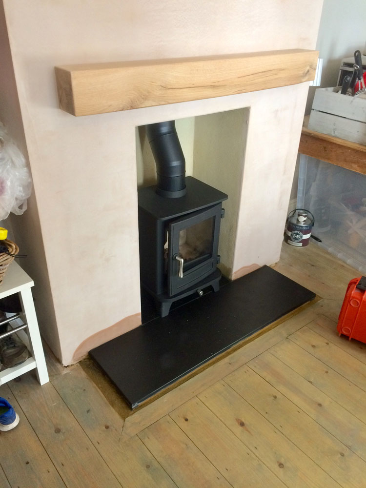 Chesney wood burner in victorian house