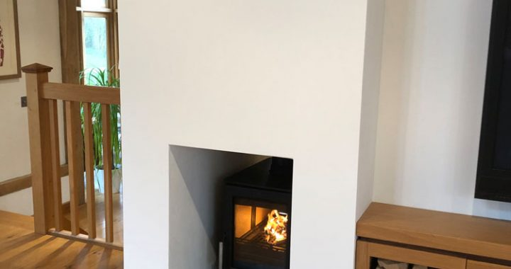 modern double sided wood burner