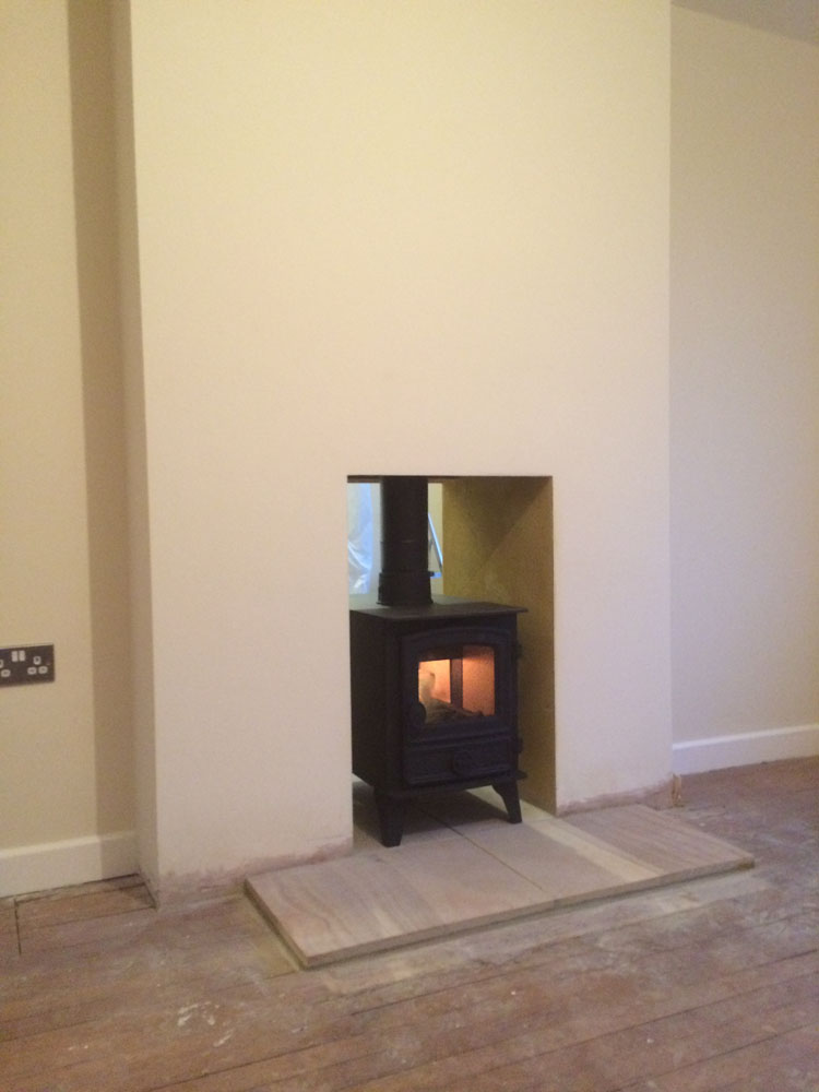 Double sided stove in farnham surrey