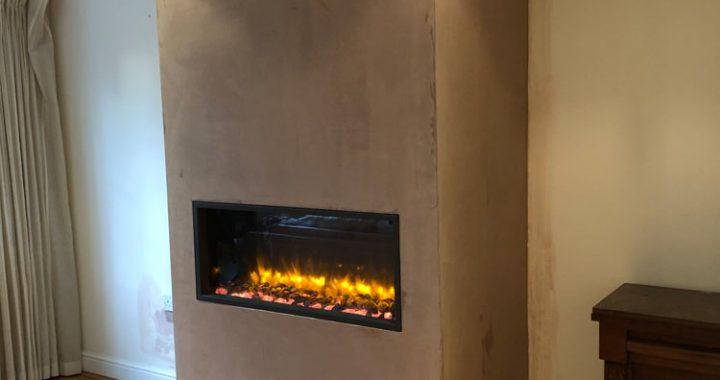 Electric inset wood burner