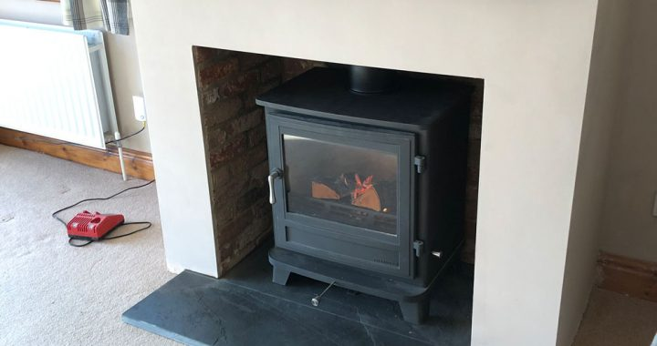 false chimney breast with chesneys stove