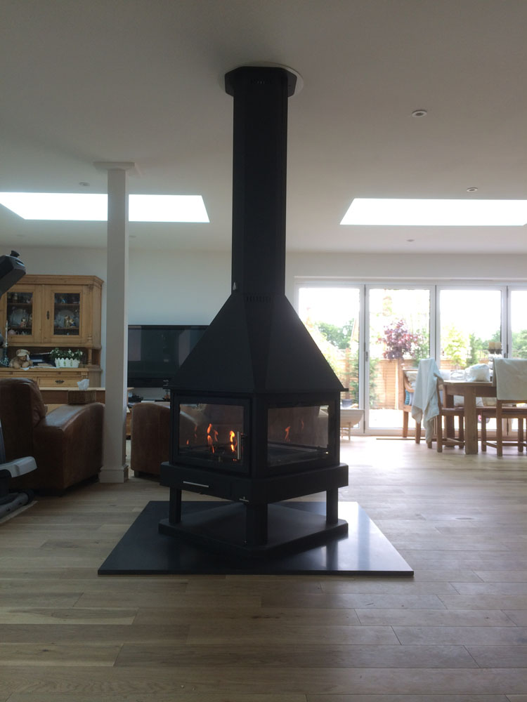 Bronpi HUELVA four sided stove