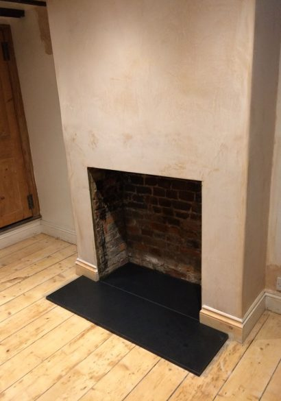 new granite hearth fitted