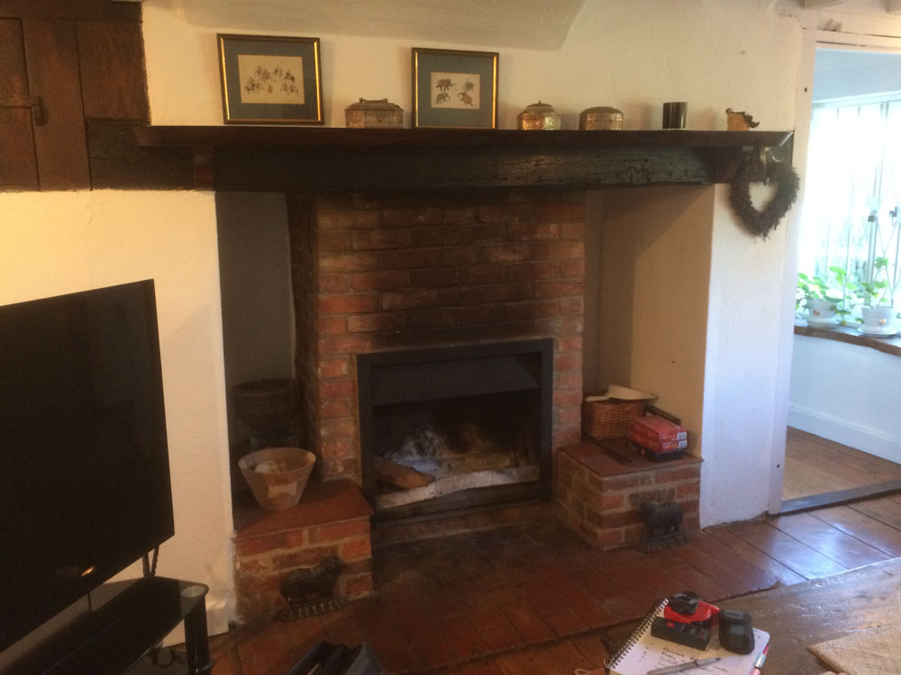 inglenook fireplace prior to works