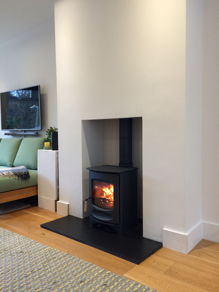 Charnwood log burner installation aldershot