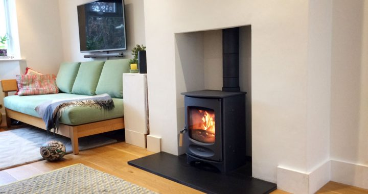 Charnwood wood burner installation in aldershot