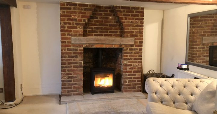 brickwork fireplace surround guildford