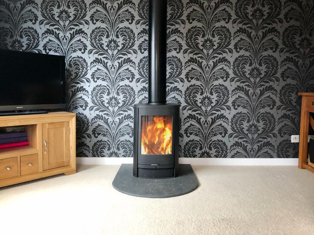 free standing wood burner alton