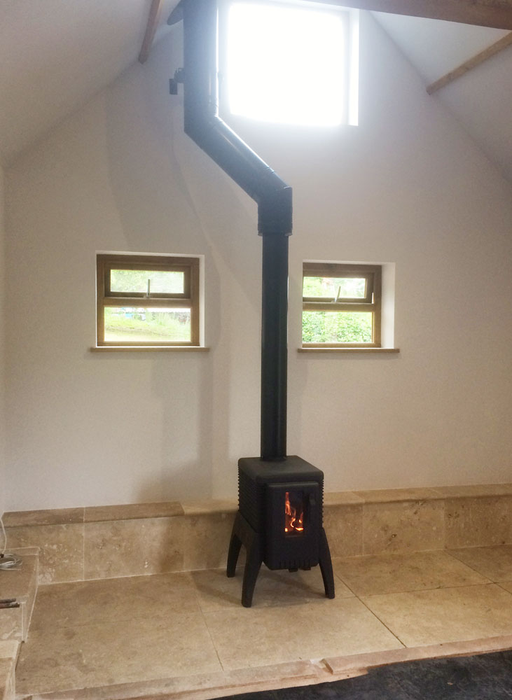 industrial stove with twinwall flue