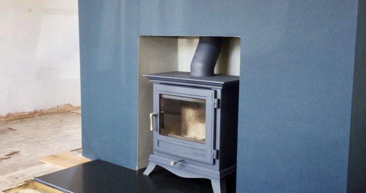 Chesney wood burner in Atlantic blue