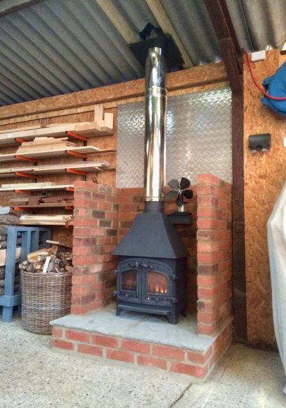 workshop wood burning stove