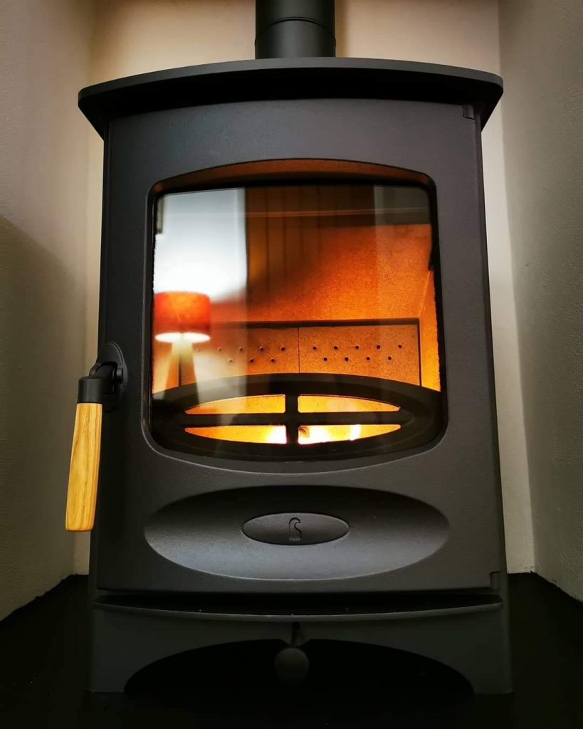 Charnwood c-four wood burner in blue finish